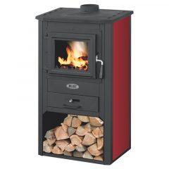 Печь-камин BLIST — Огонь (Бордо)
